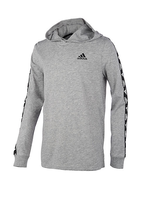 adidas Boys 4-7 Long Sleeve Hooded T-Shirt