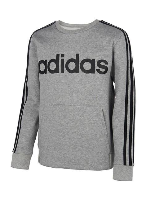adidas Boys 8-20 Core Crew Pullover