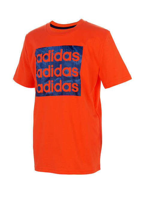 adidas Boys 4-7 Short Sleeve Camouflage T-Shirt