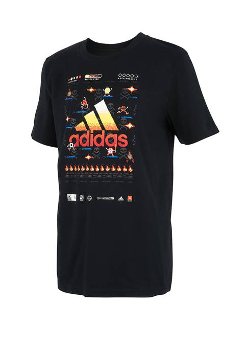 adidas Boys 8-20 Short Sleeve Game Time Graphic