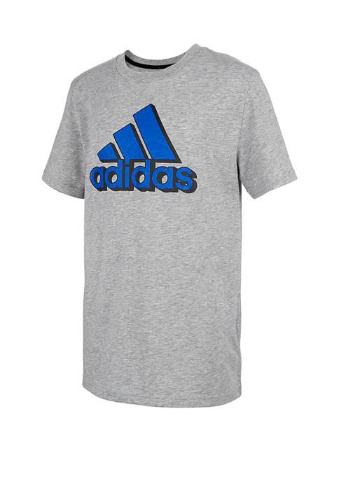 adidas Boys 8-20 Short Sleeve Mascot Heather Graphic