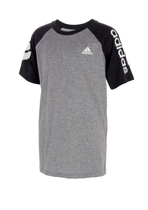 adidas Boys 8-20 Raglan Graphic T-Shirt
