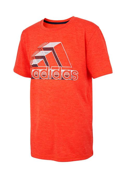 adidas Boys 8-20 Heather Dot Lines T-Shirt