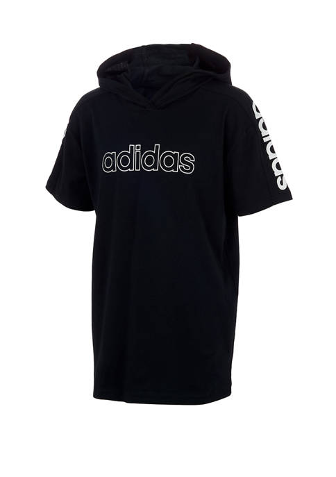 adidas Boys 8-20 Short Sleeve Hooded T-Shirt