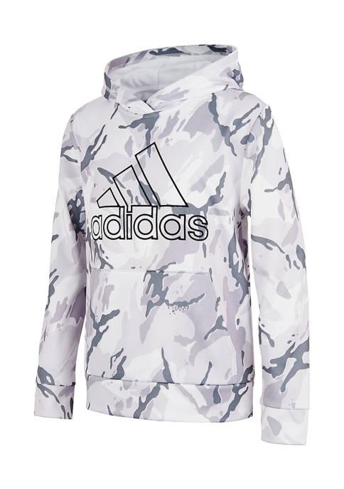 adidas Boys 8-20 Camo Hooded Pullover