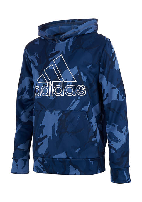 adidas Boys 4-7 Camo Hooded Pullover