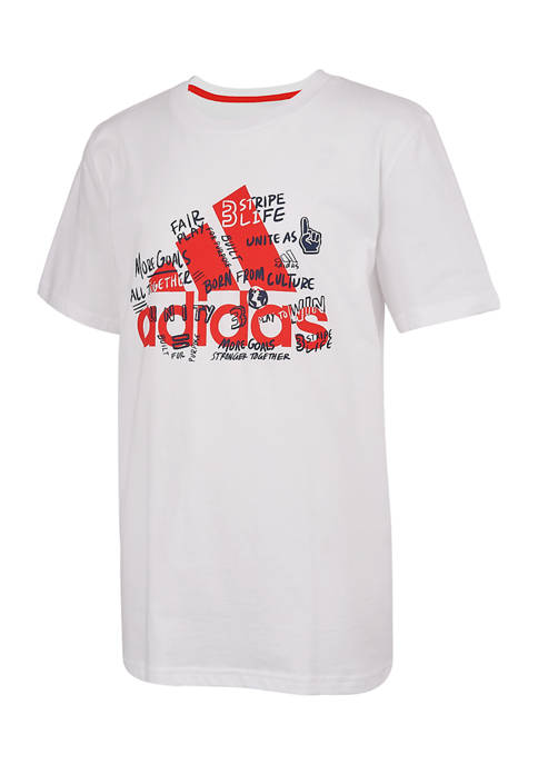 adidas Boys 8-20 Short Sleeve Motivation T-Shirt