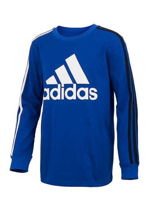 Boys 8-20 Long Sleeve 3 Stripe T-Shirt
