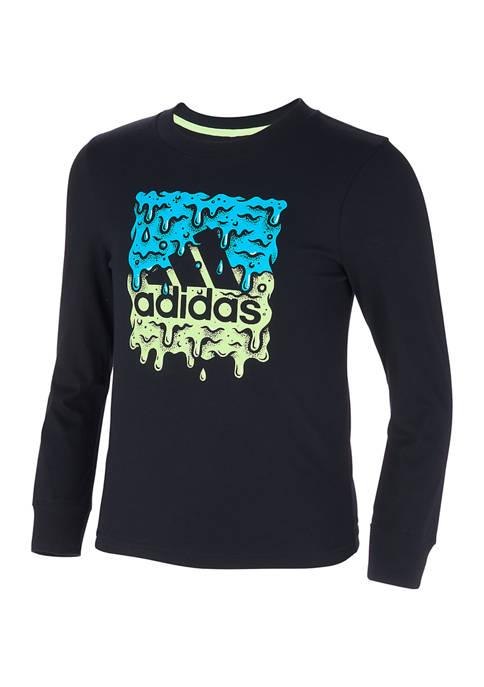 adidas Boys 4-7 Long Sleeve Slime T-Shirt