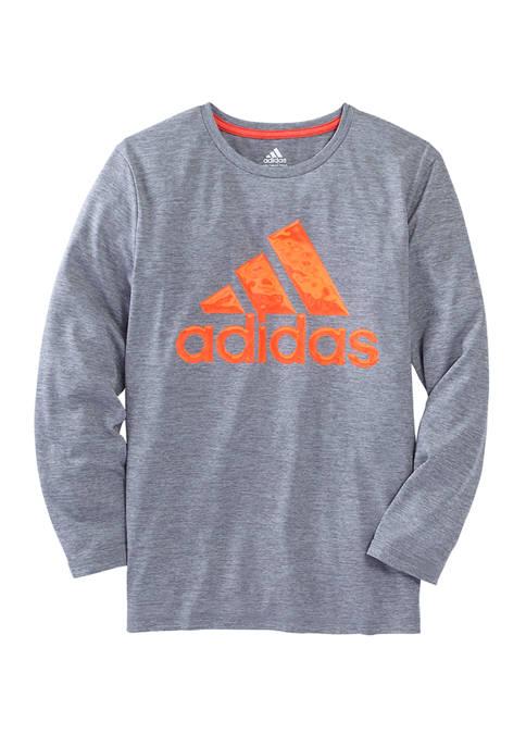 adidas Boys 8-20 Liquid Metal Logo Graphic T-Shirt