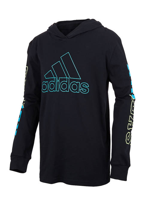 adidas Boys 8-20 Long Sleeve Heather Collegiate T-Shirt