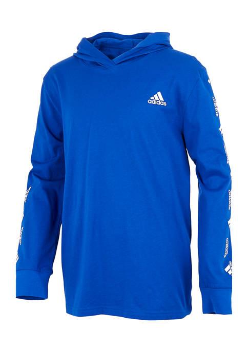 adidas Boys 8-20 Long Sleeve Hooded T-Shirt | belk