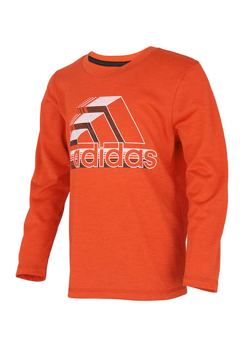 adidas Boys 8-20 Dot Lines Long Sleeve T-Shirt
