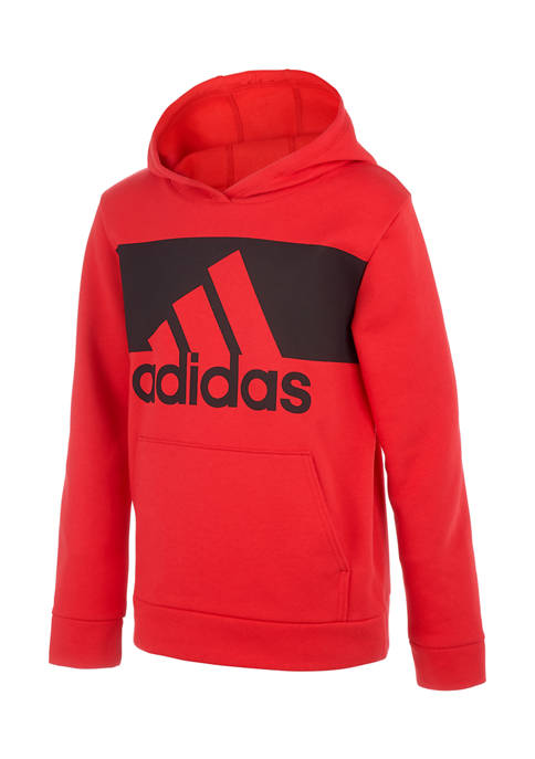 adidas Boys 8-20 Cotton Hooded Pullover
