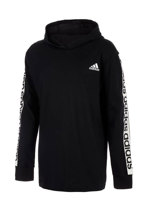 Boys 8-20 Long Sleeve Linear Graphic Hooded Pullover