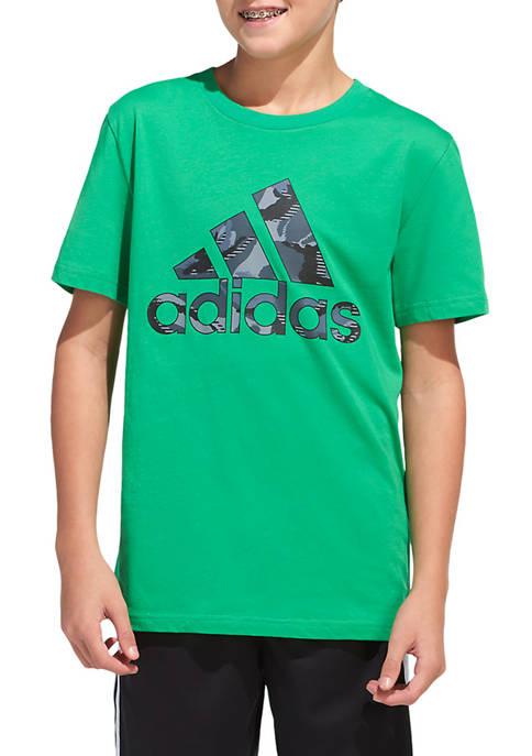 adidas Boys 8-20 Camouflage Logo Graphic T-Shirt
