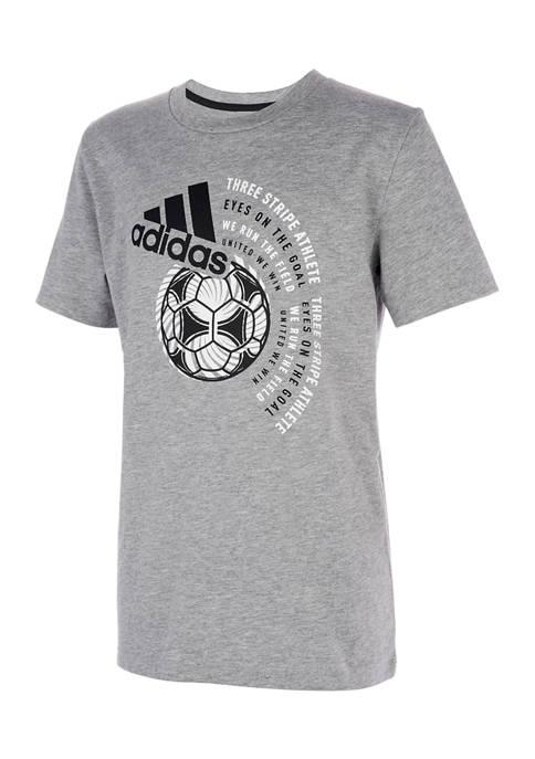 adidas Boys 8-20 Winner Heathered T-Shirt