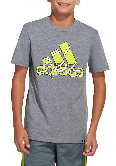 adidas Boys 8-20 Shoelace Logo Graphic T-Shirt