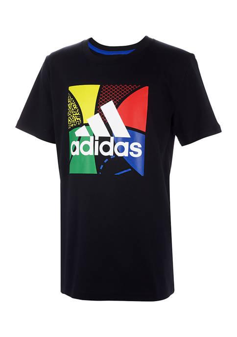 adidas Boys 4-7 Colorful Graphic T-Shirt