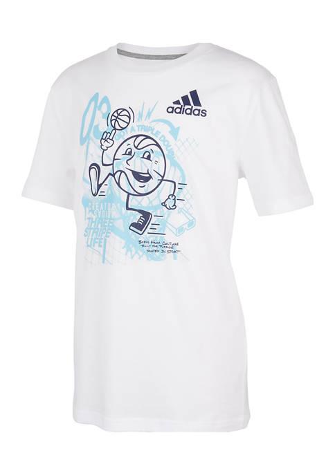 adidas Boys 4-7 Short Sleeve Graphic T-Shirt