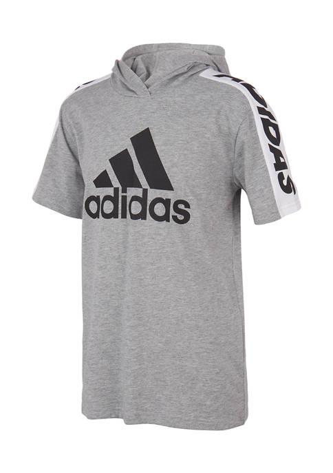 adidas Boys 8-20 Short Sleeve Logo Graphic Hooded