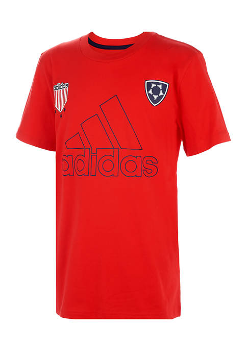 adidas Boys 4-7 Americana Graphic T-Shirt