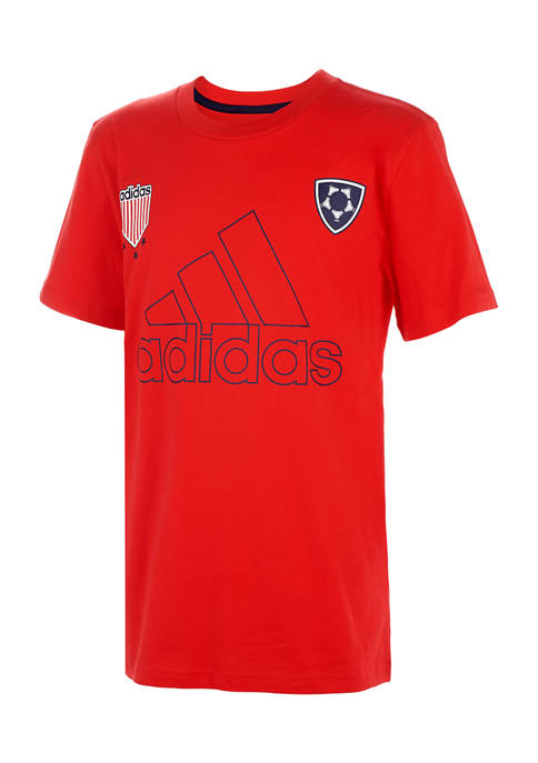 adidas Boys 8-20 Short Sleeve Logo Graphic T-Shirt