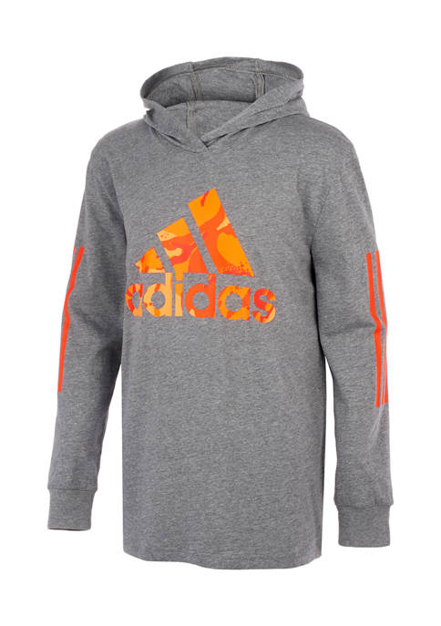 adidas Boys 8-20 Long Sleeve Camouflage Hooded Pullover