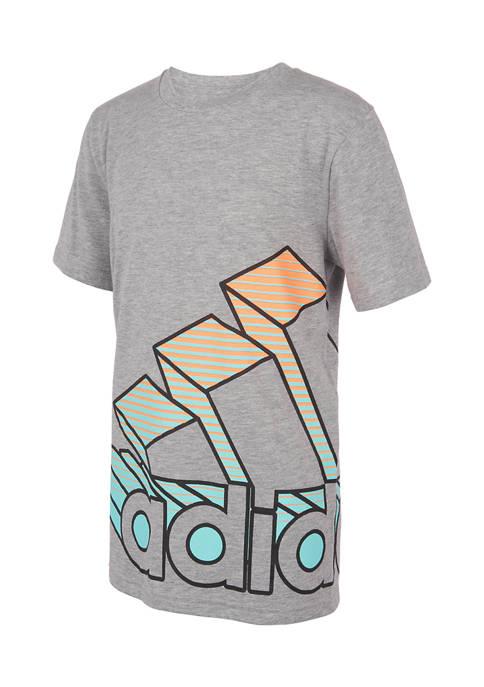 adidas Boys 4-7 Wrap Heathered T-Shirt