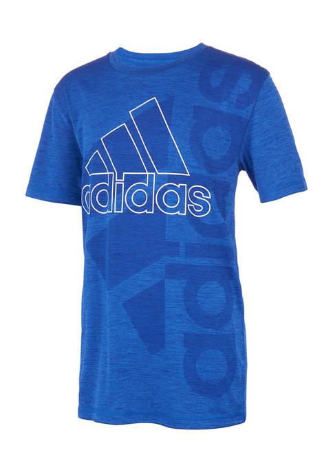 adidas Boys 4-7 Double Logo Graphic T-Shirt
