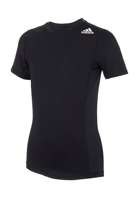 adidas Boys 8-20 Short Sleeve Crew Neck T-Shirt