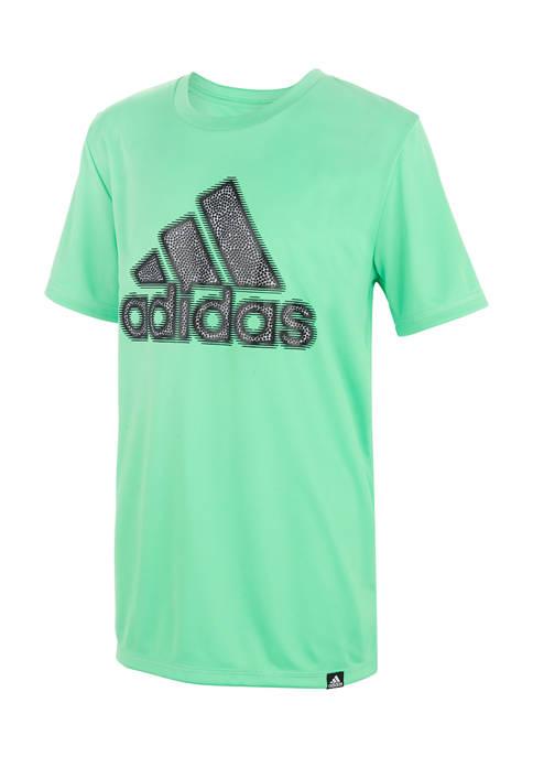 adidas Boys 8-20 Lenticular Short Sleeve Graphic T-Shirt
