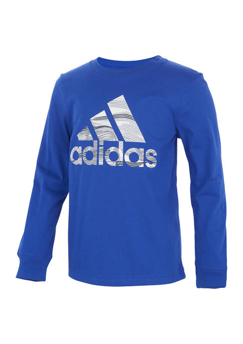 adidas Boys 4-7 Long Sleeve Camo Badge of