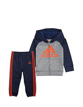 529a019f953c adidas Boys 4-7 Long Sleece Mélange Fleece Set