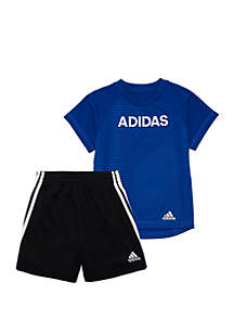 adidas Boys 2-7 Flag Strong Short Set