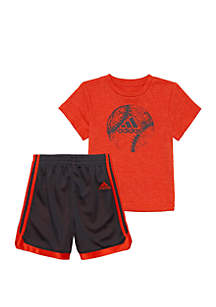 adidas Boys 2-7 Striker Short Set