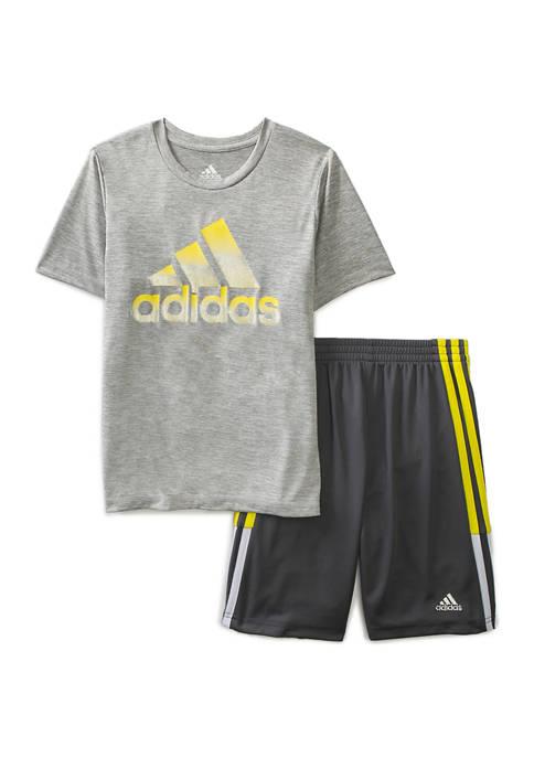 adidas Boys 4-7 Graphic T-Shirt and Shorts Set