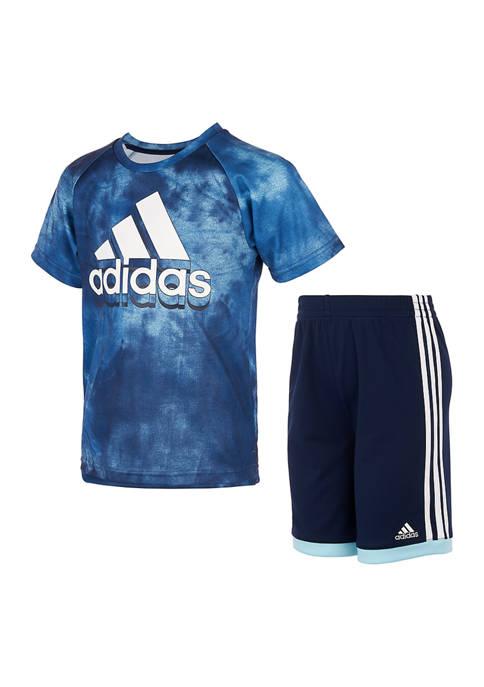 Boys 4-7 Printed T-Shirt and Shorts Set