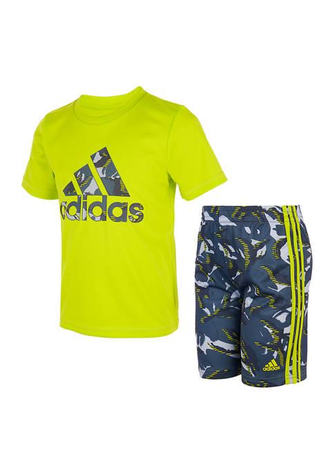 adidas Boys 4-7 Camouflage Graphic Set