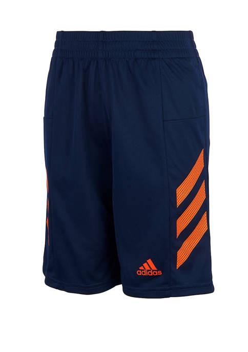 adidas Boys 4-7 Pro Sport 3 Stripes Shorts