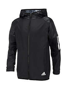 b0568d593a9fc ... adidas Boys 8-20 Solid Woven Hooded Jacket