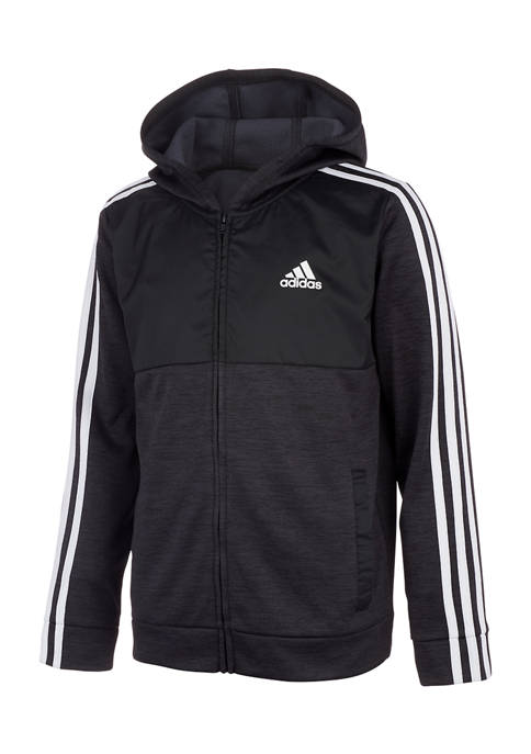 adidas Boys 8-20 Hooded Jacket with Woven Inset