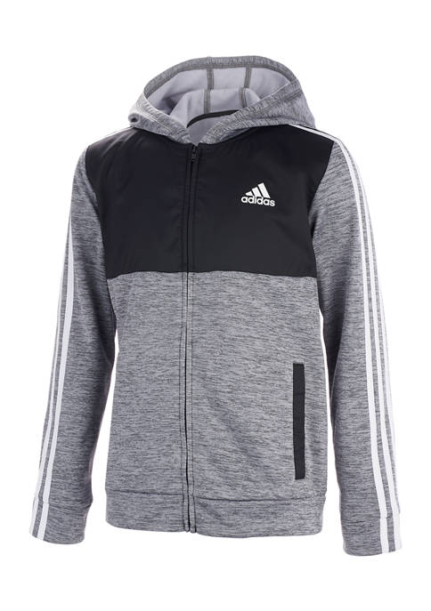 Boys 8-20 Hooded Jacket with Woven Inset