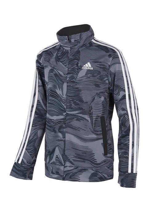 adidas Boys 8-20 Warped Camouflage Tricot Jacket