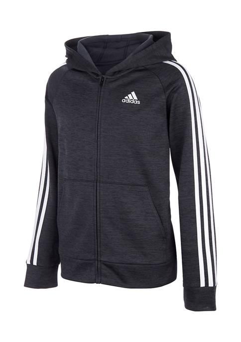 adidas Boys 8-20 Black Zip Up Jacket