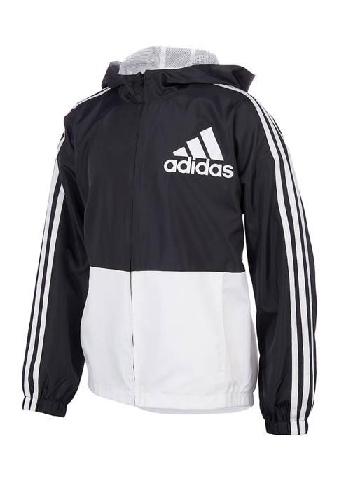 adidas Boys 8-20 Color Block Wind Jacket with