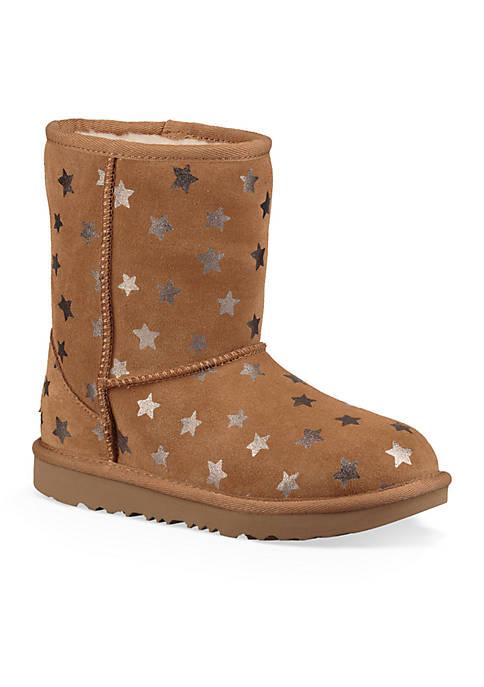 UGG® Girls Classic Short II Stars Boot- Youth