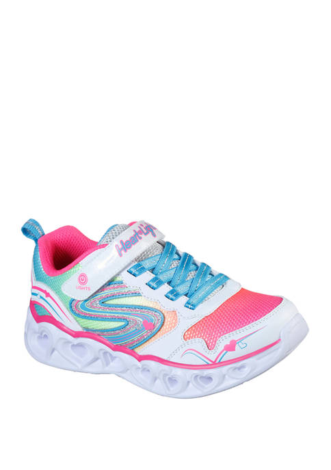 Youth Girls Heart Lights Love Spark Sneakers