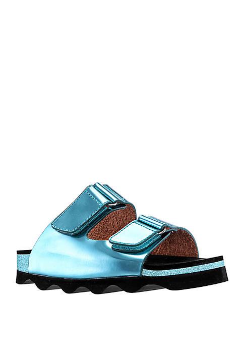 Nina Toddler/Youth Girls Andrina Velcro Slide Sandals