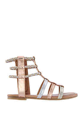 064d68ef1604 Nina Youth Girls Chryssa Gladiator Sandals ...